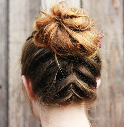 17 best hair updo ideas for medium length hair best hairstyle ideas 15upside down braid updo solutioingenieria Image collections